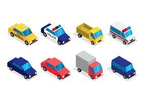 Set di clipart di trasporto isometrica