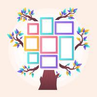 Vettore del modello dell'albero genealogico