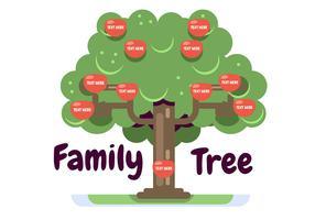 Modello di albero genealogico con mele vettore