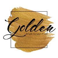 Struttura dorata del colpo della spazzola, macchia della pittura di struttura dell'oro, illustrazione di vettore. vettore