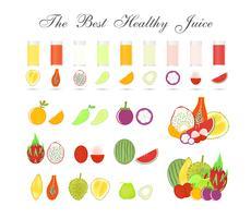 Polpe della frutta isolate su fondo bianco, bevanda sana per il corpo, progettazione di vettore dell'icona.