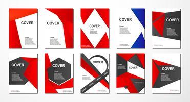 Progettazione astratta dell'aletta di filatoio con lo spazio del testo per la presentazione dell'insegna, della copertina, dell'opuscolo, del libro e di affari di web. vettore