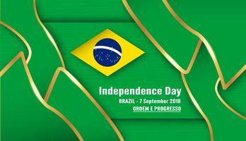Vector l'illustrazione per il giorno dell'indipendenza del Brasile il 7 settembre per fondo celebrato. In portoghese è chiamato 'Dia da Independência'.