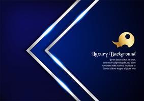 Fondo blu astratto nel concetto premio con lo spazio della copia Progettazione del modello per la copertura, la presentazione di affari, l'insegna di web, l'invito di nozze e l'imballaggio di lusso.