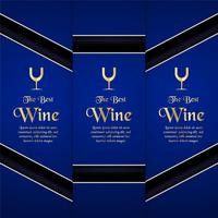 Modello di imballaggio di lusso in stile moderno per la copertura del vino, scatola di birra. Illustrazione vettoriale nel concetto premium. EPS 10.