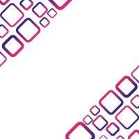 Sfondo bianco con il vettore di rettangolo blu e rosso