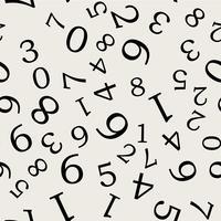 Sfondo modello senza soluzione di continuità. Concetto astratto e classico. Tema elegante design geometrico creativo. Illustrazione vettoriale. Colore bianco e nero Forma numerica e numerica per l'educazione.