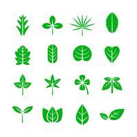 Icona foglia. Concetto di natura e ambiente. Illustrazione vettoriale