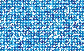 Mosaico di cerchio blu senza soluzione di continuità su sfondo bianco. Illustrazione vettoriale