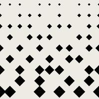 Sfondo modello senza soluzione di continuità. Concetto astratto moderno e classico antico. Tema elegante design geometrico creativo. Illustrazione vettoriale. Colore bianco e nero Forma quadrata a mezzo tono rettangolare