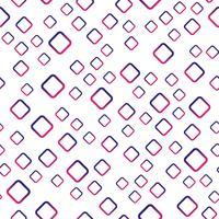Sfondo modello senza soluzione di continuità. Concetto astratto moderno e classico antico. Tema elegante design geometrico creativo. Illustrazione vettoriale. Colore del tono viola e rosso. Forma quadrata rettangolare