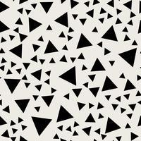 Sfondo modello senza soluzione di continuità. Concetto astratto moderno e classico antico. Tema elegante design geometrico creativo. Illustrazione vettoriale. Colore bianco e nero Rettangolo a forma di triangolo