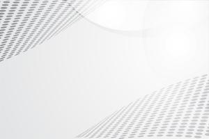 Vettore astratto bianco della priorità bassa. Astratto grigio Sfondo di design moderno per report e modello di presentazione del progetto. Illustrazione vettoriale. Dot e forma circolare. prodotto pubblicitario presente