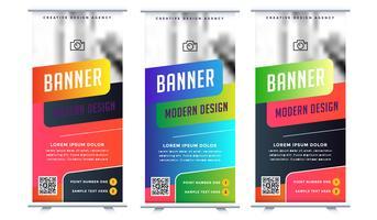 Insegna di rotolamento di affari di tendenza di pubblicità moderna di mostra vettore