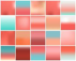 Mega pack di 20 sfocato sullo sfondo astratto. Set di raccolta di colori pastello. Concetto di carta da parati e texture. Tendenza pantone popolare per l'anno 2019 vettore