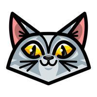 Simpatico gatto felice fumetto amichevole
