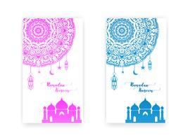 biglietto di auguri di Ramadan Kareem vettore