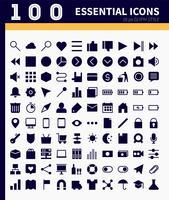Web essenziale, icone di app vettore