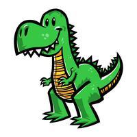 Dinosauro Tyrannosaurus Rex, cartone animato T-Rex vettore