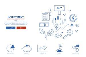 Concetto di sito Web di investimento
