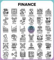 Icone della linea di finanza vettore
