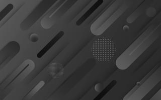 Vettore di sfondo astratto nero. Astratto grigio Sfondo di design moderno per report e modello di presentazione del progetto. Illustrazione vettoriale. Dot e forma circolare. prodotto pubblicitario presente