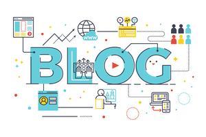 Blog parola scritta vettore