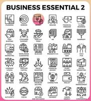 Icone di affari essenziali vettore