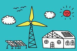 Concetto di energia alternativa