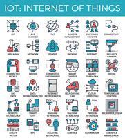 IOT: Internet delle cose icone di concetto