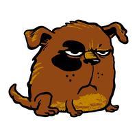 Illustrazione di vettore del fumetto cane arrabbiato