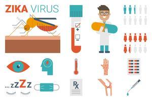 Concetto di virus Zika vettore