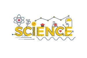 Illustrazione di parola di scienza vettore