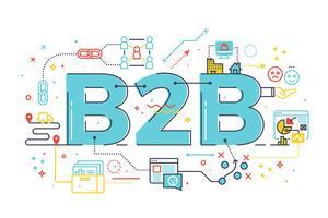 B2B: Business to business, illustrazione di parole