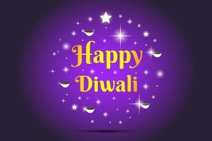 Illustrazione felice di Diwali vettore