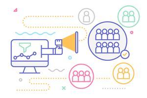 Illustrazione di marketing digitale vettore