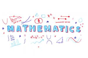 Illustrazione parola matematica vettore