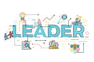Parola di leader nel concetto di leadership aziendale vettore