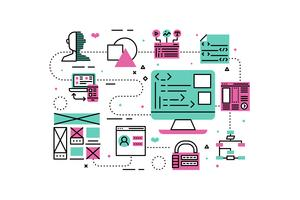 Illustrazione di programmazione Web vettore