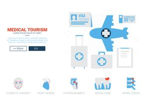 Modello di sito Web medico Toruism vettore