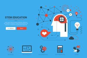 Concetto di sito Web STEM