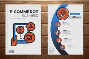 Modello di copertina del libro di affari di e-commerce vettore