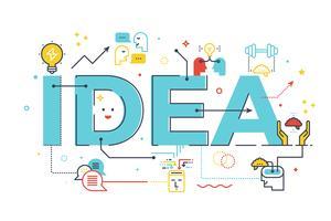 Parola idea creativa vettore