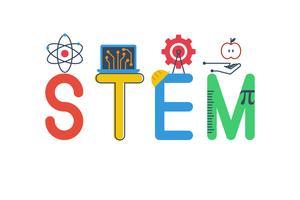 Illustrazione di STEM vettore