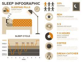 dormire infografica vettore