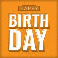 Scheda di compleanno dell'annata con disegno del modello di effetti di Grunge vettore