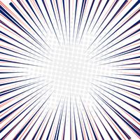 Linee di velocità radiale movimento veloce sfondo con cerchi mezzitoni.