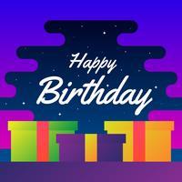 Progettazione di vettore di tipografia di buon compleanno per il manifesto delle cartoline d'auguri
