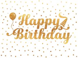 Buon compleanno tipografia