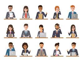 Imprenditore e imprenditrice persone in azioni.